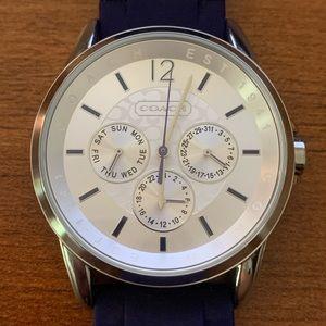 Coach classic signature sport silicon strap watch